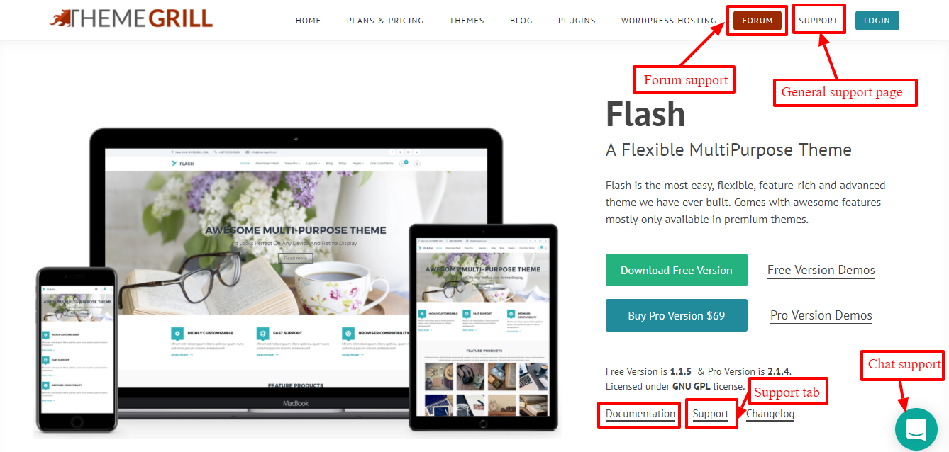 flash-theme-wordpress-support