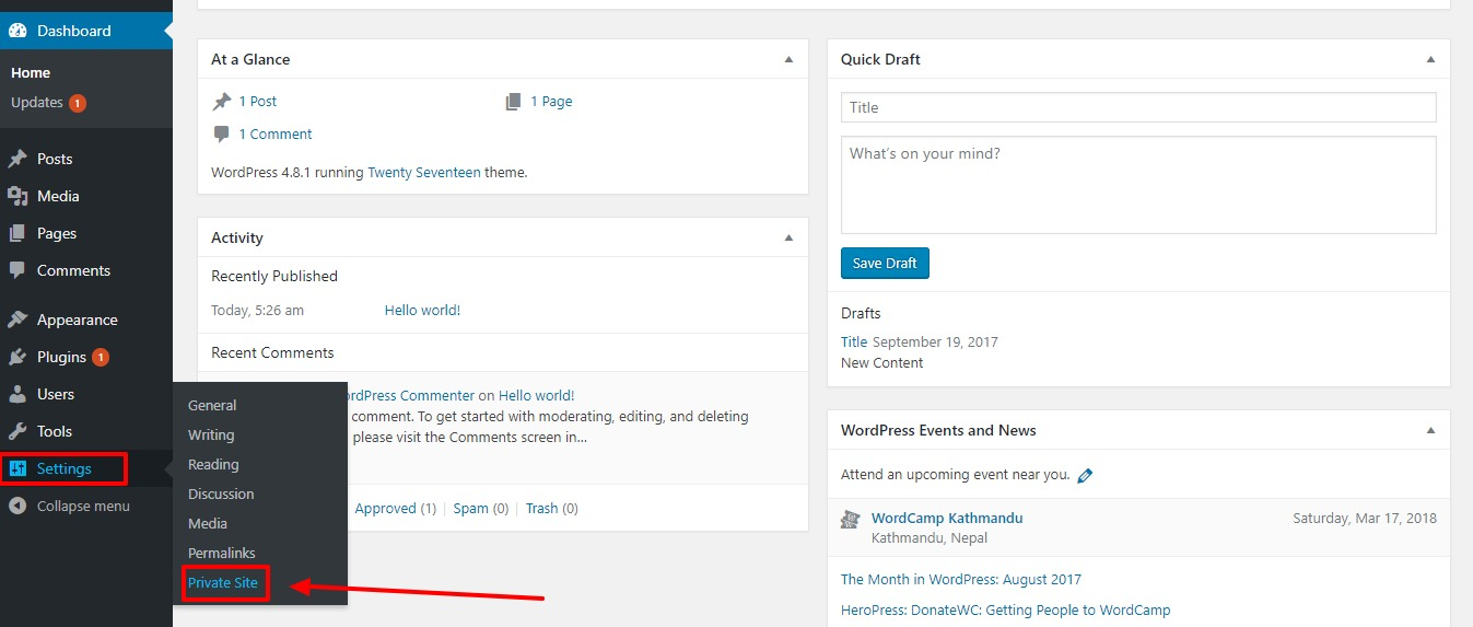 settings-make-wordpress-site-private