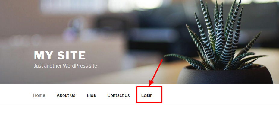 wp-login-url-in-wp-navigation-menu