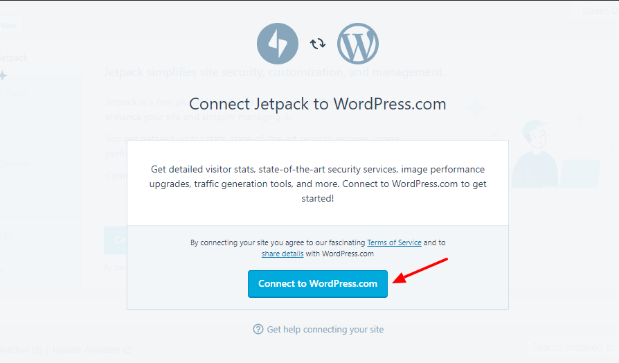 jetpack-connect-to-wordpress-account