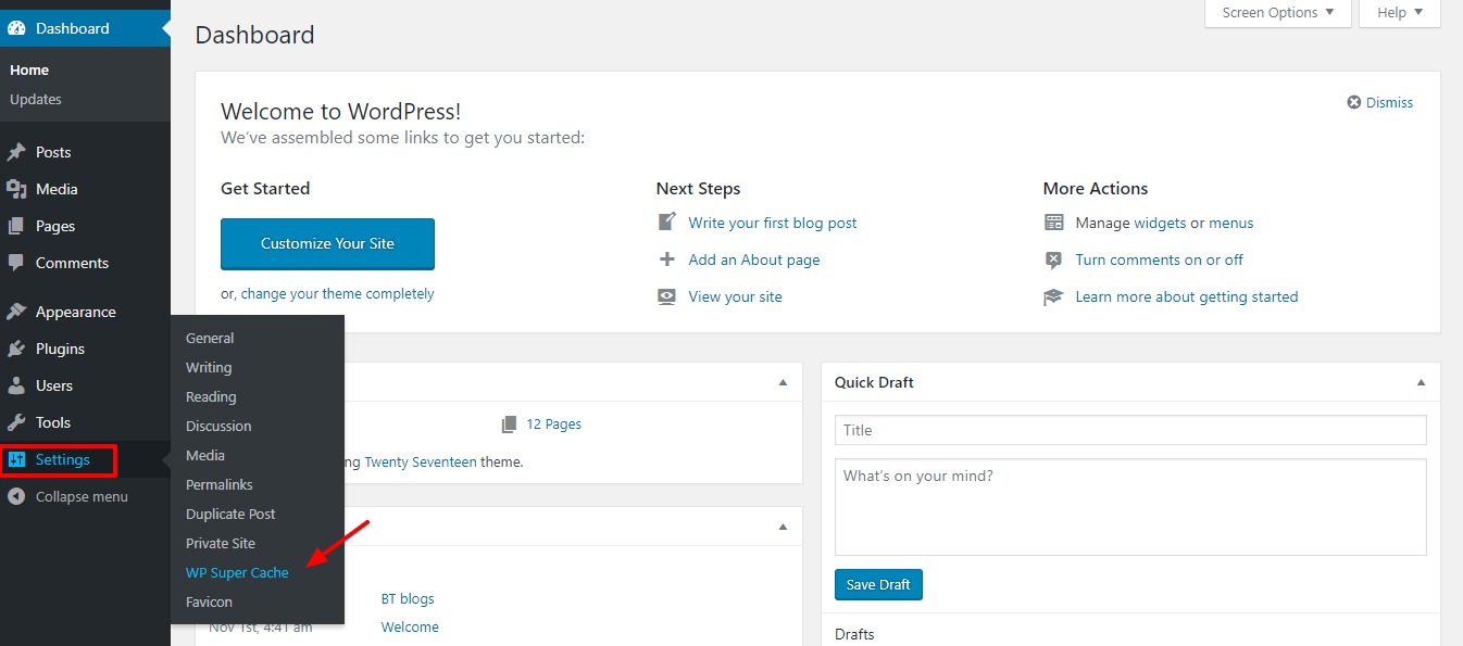 clearing-wordpress-cache-step1