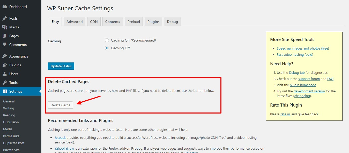clearing-wordpress-cache-step2