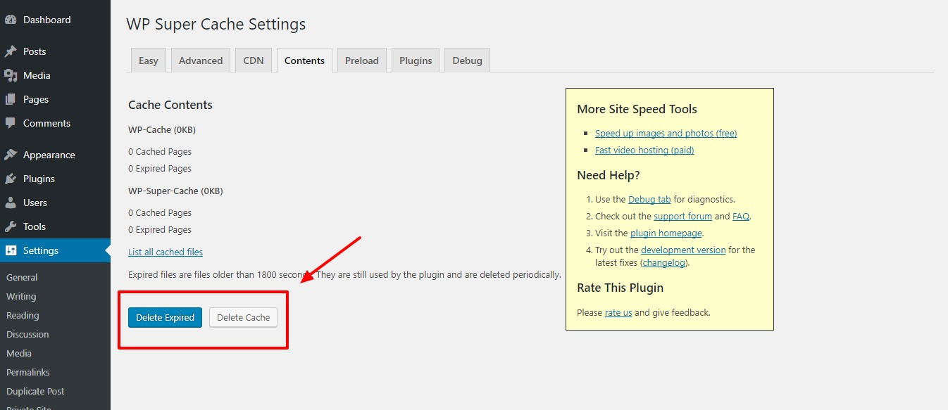 clearing-wordpress-cache-step3