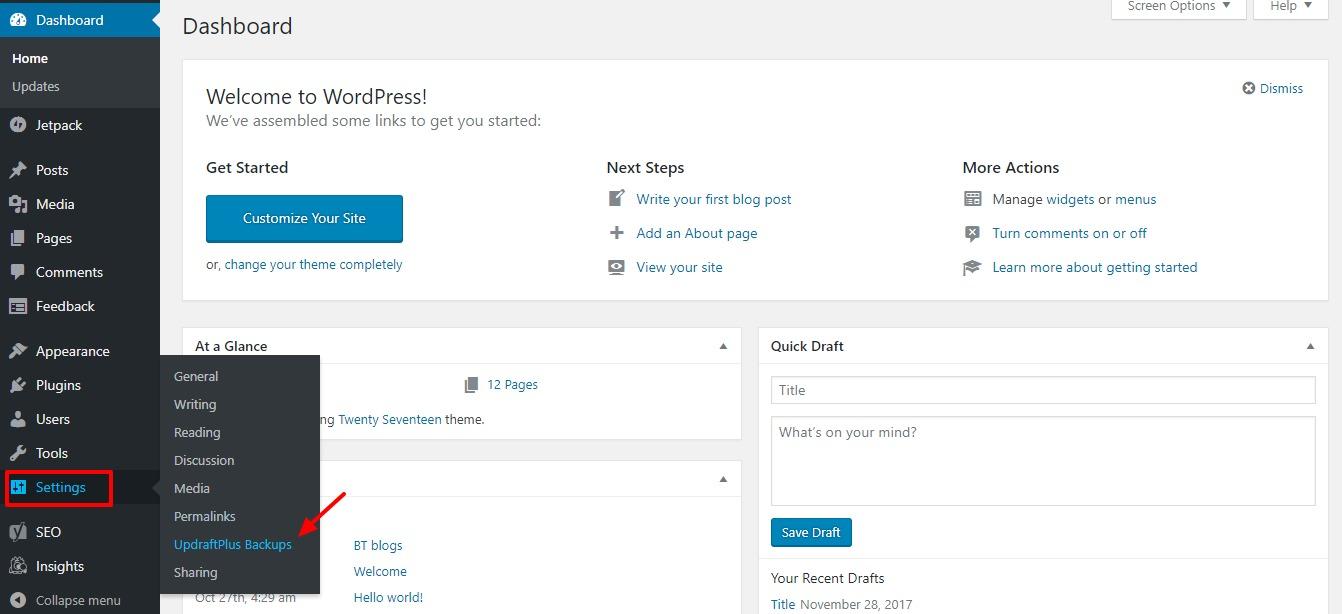creating-wordpress-backups-step-one