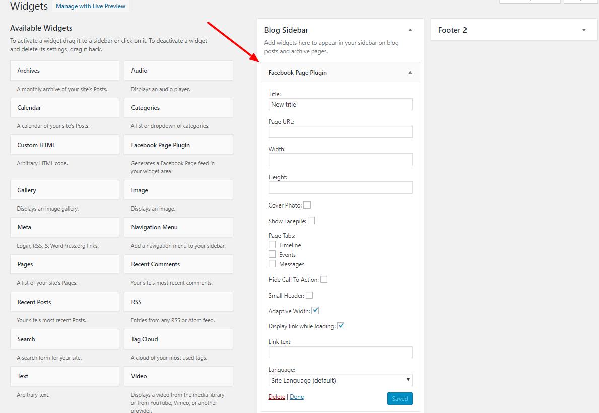 WordPress Facebook Widget Demo Data