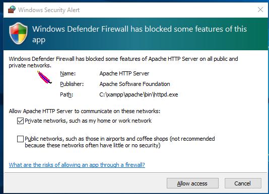 Firewall-notification