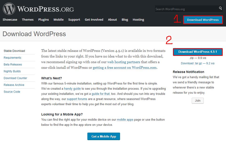localhost-WordPress