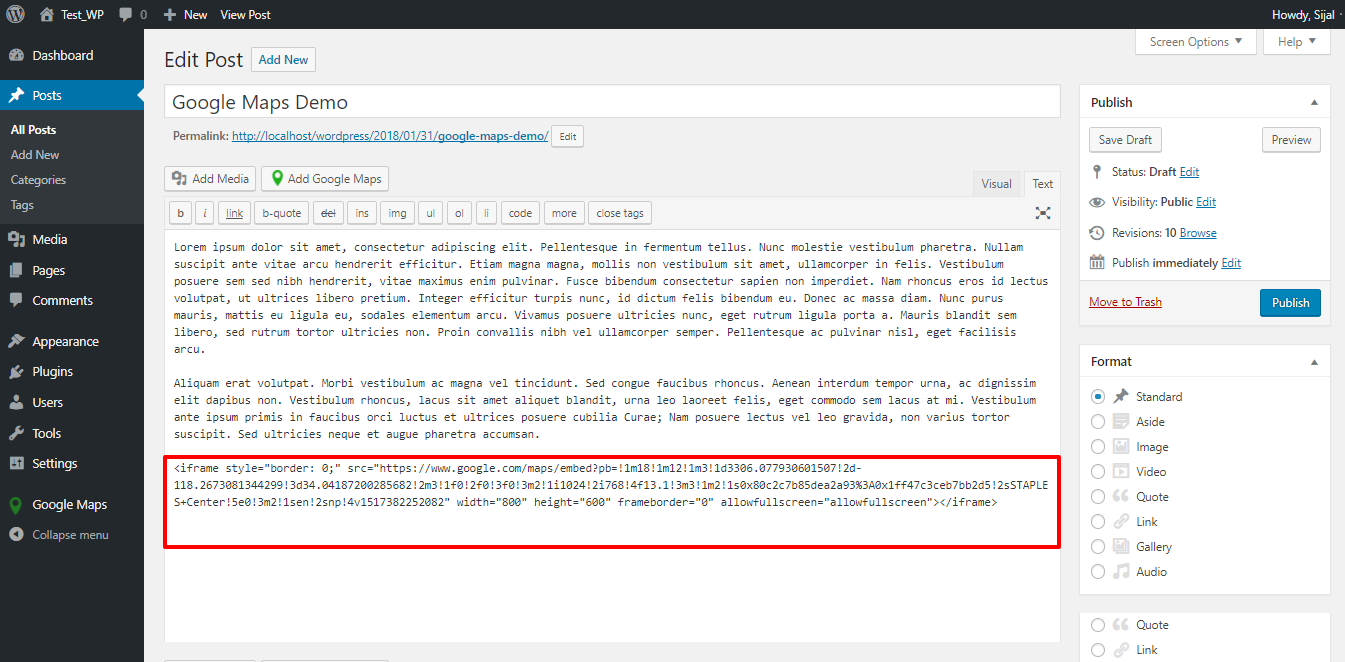 how to add embed code to website