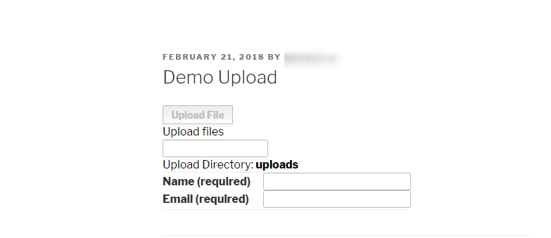 WordPress-File-Upload-Final-Demo