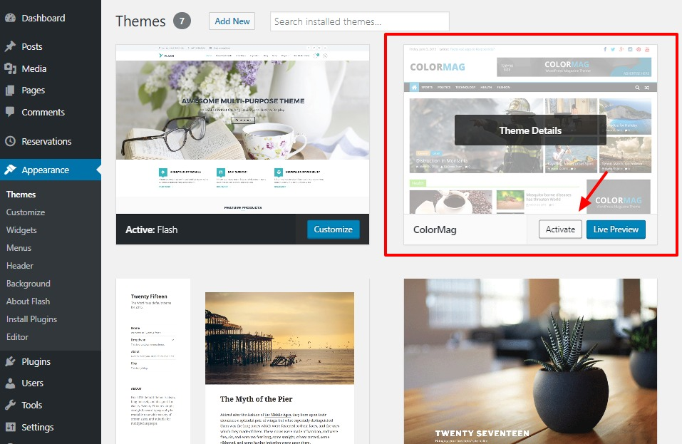 how-to-change-wordpress-theme-colormag