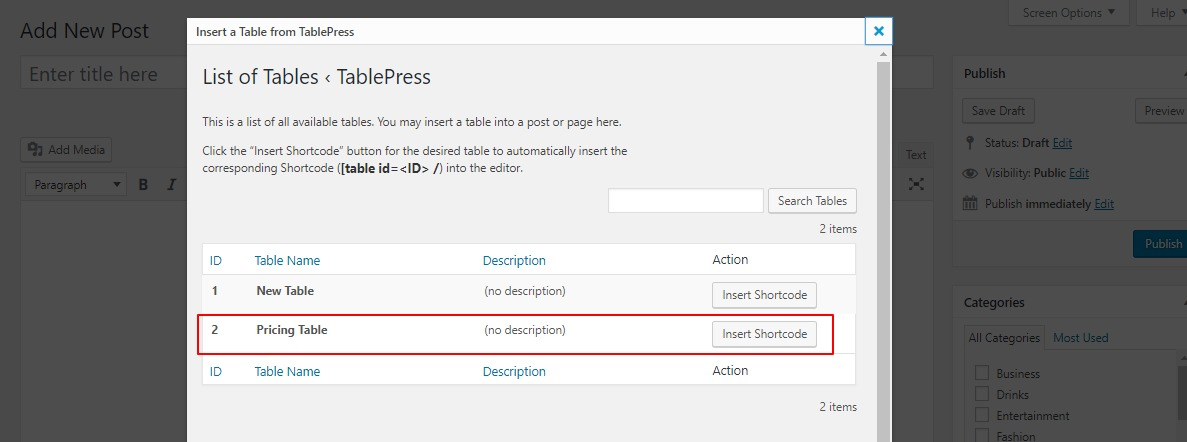 how-to-add-tables-in-wordpress-tablepress-step-6