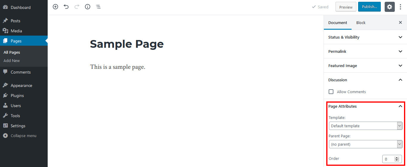 posts vs pages wordpress