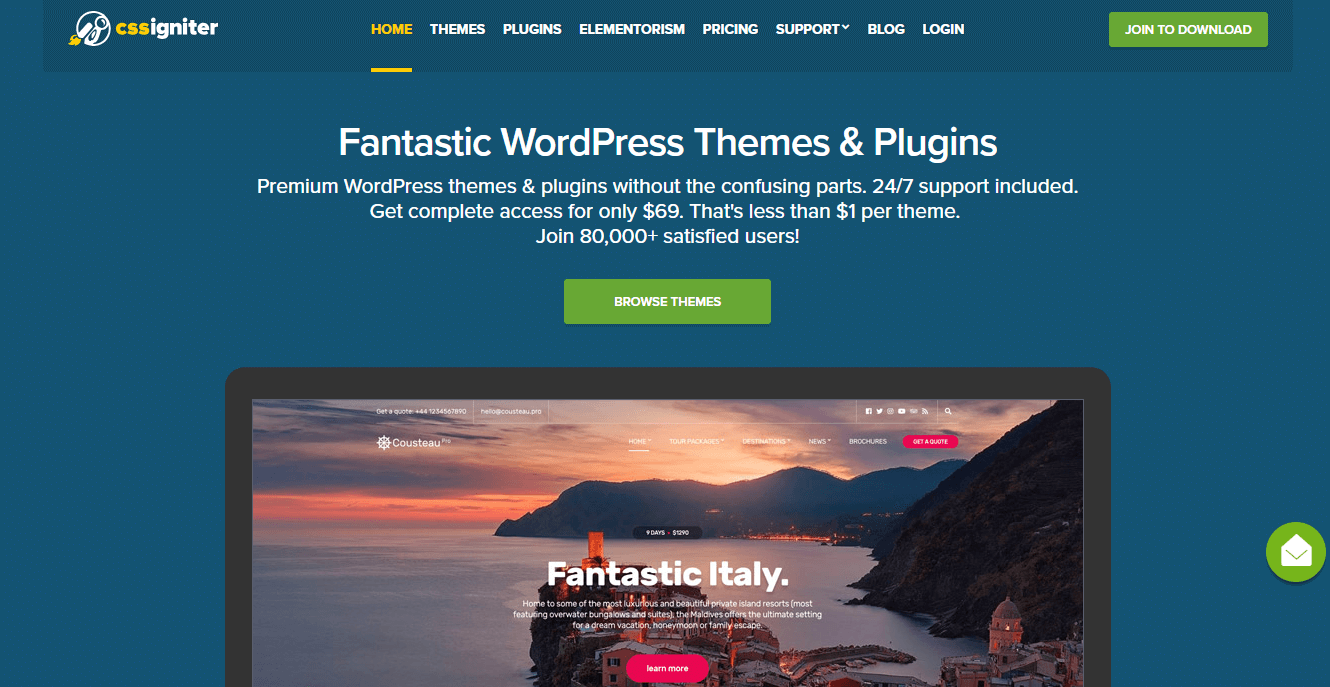 CSSIgnitor-Best WordPress Theme Marketplaces