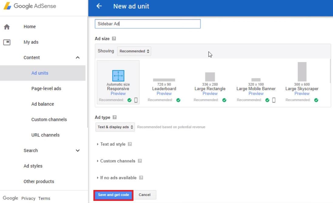 google adsense on wordpress customization