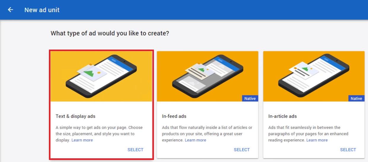 google adsense on wordpress new ad unit