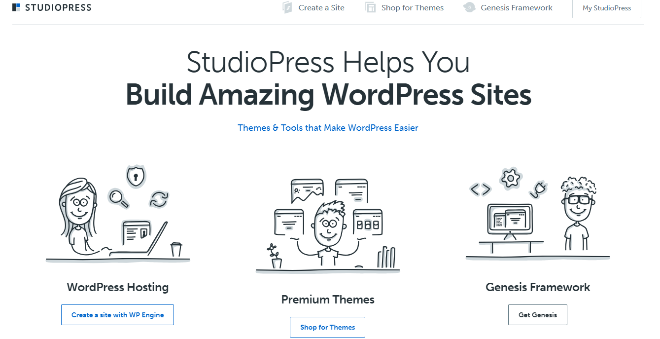 StudioPress-Best WordPress Themes Marketplaces
