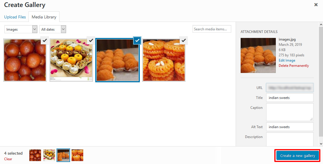 wordpress photo gallery new page create gallery