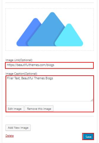 WordPress image widget Plugin image link caption