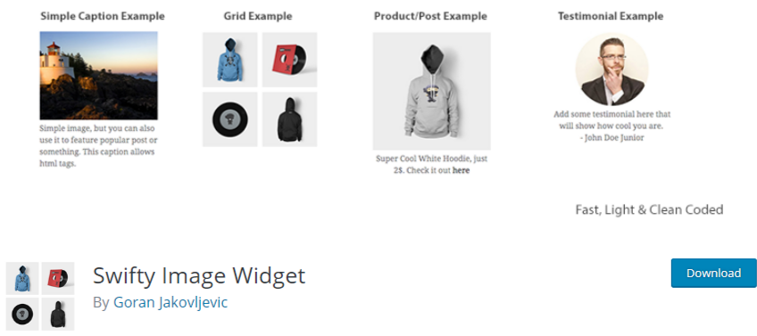 WordPress image widget plugin2 Swifty image widget