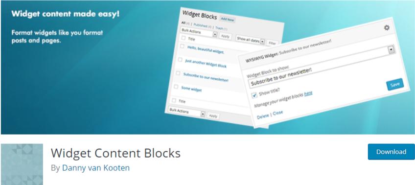 WordPress image widget plugin3 widget content blocks