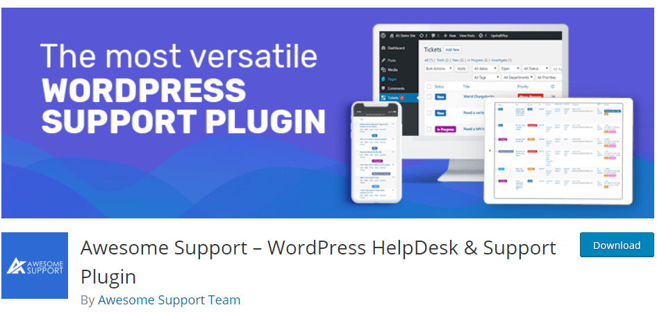 Awesome Support-WordPress Helpdesk Plugin