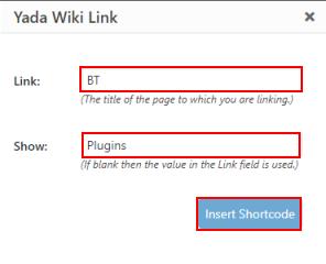 WordPress Wiki - Yada wiki field