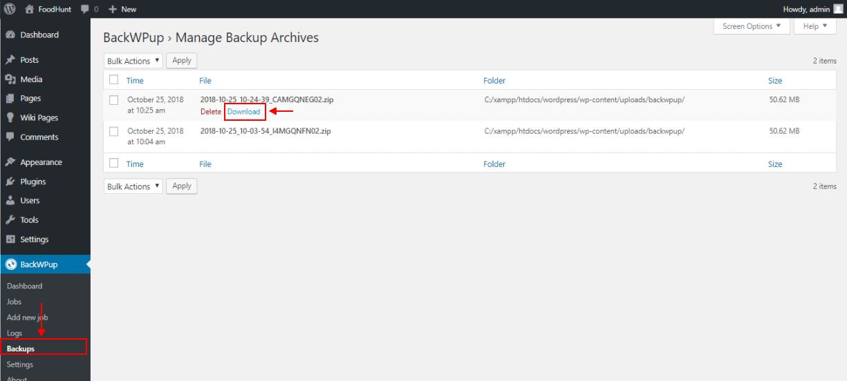 best backup WordPress plugin - BackWpup download