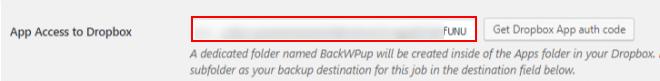 best backup WordPress plugin - backwpup job dropbox auth 2
