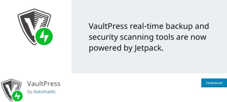 best backup WordPress plugin - plugin 2 VaultPress