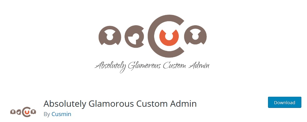 Absolutely Glamorous Custom Admin wordpress dashboard plugin