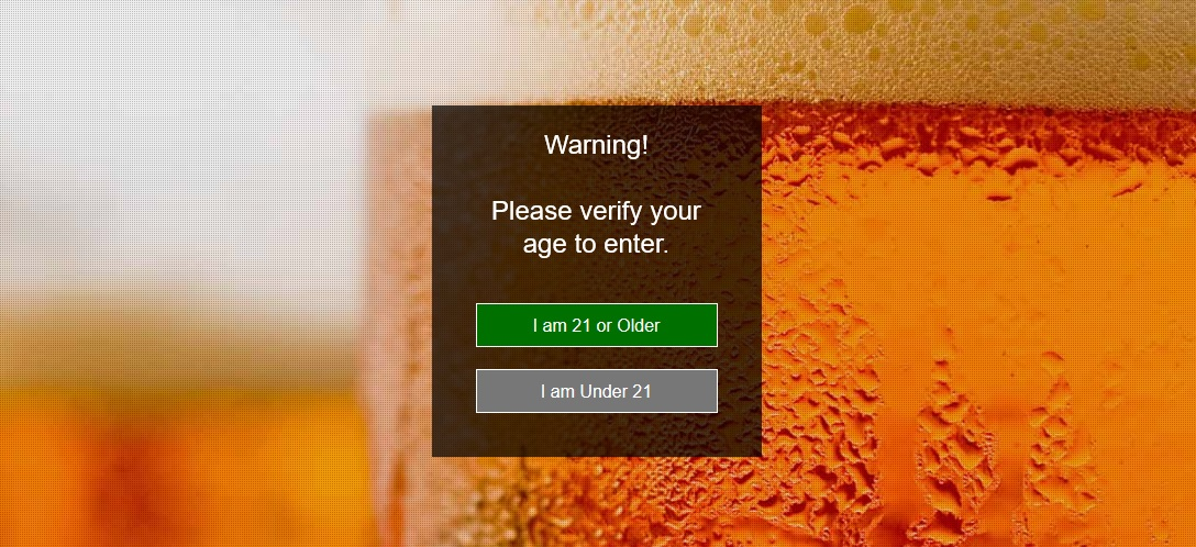 WordPress Age Verification Splash Page