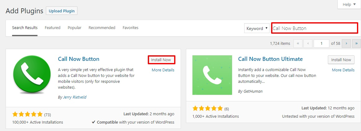 wordpress click to call floating button