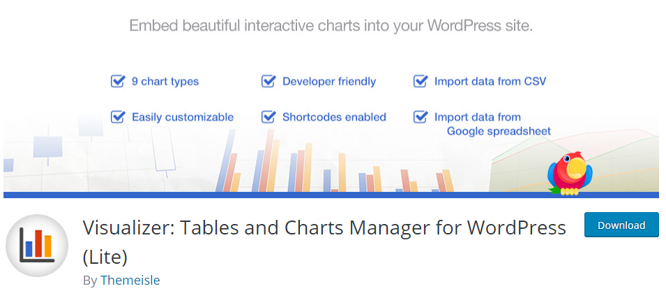 Visualizer Charts WordPress Plugin
