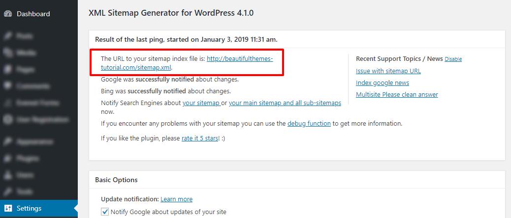 WordPress Sitemap Plugin
