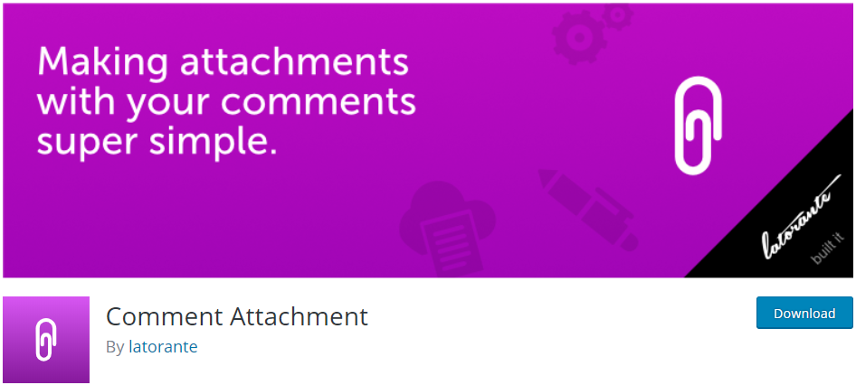 Comment Attachment WordPress