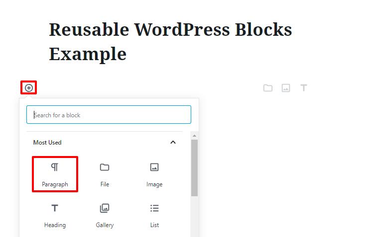 reusable wordpress blocks