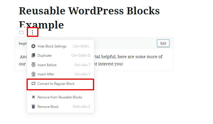 reuse wordpress gutenberg blocks