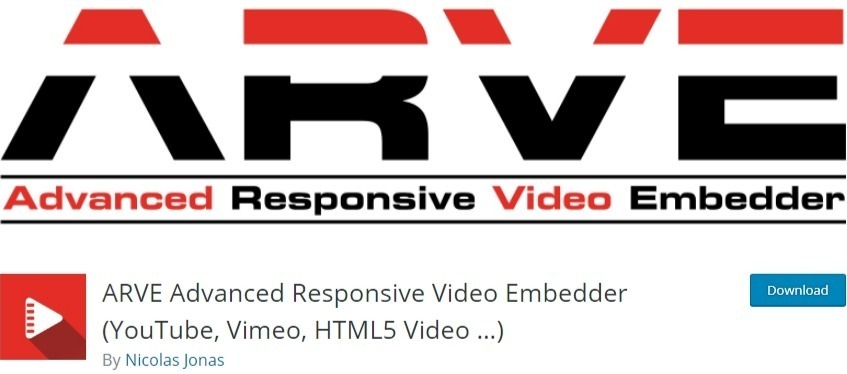 embed videos in wordpress - ARVE plugin