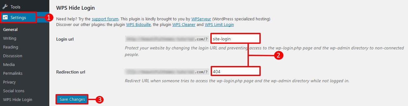 hide wordpress login page
