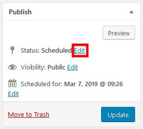 how to schedule posts on wordpress