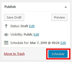 wordpress schedule posts
