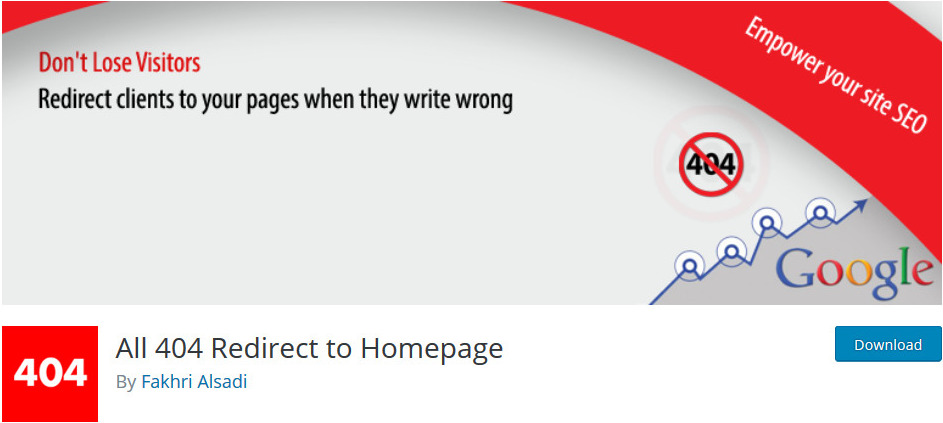 how to redirect 404 error page to homepage in wordpress