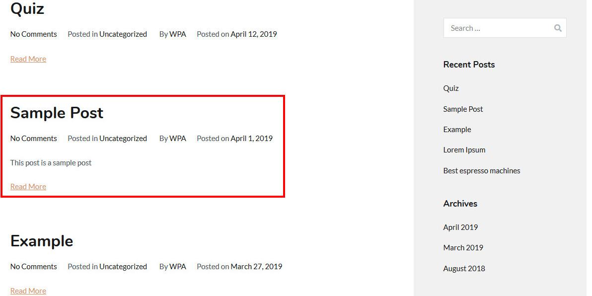 reorder posts wordpress