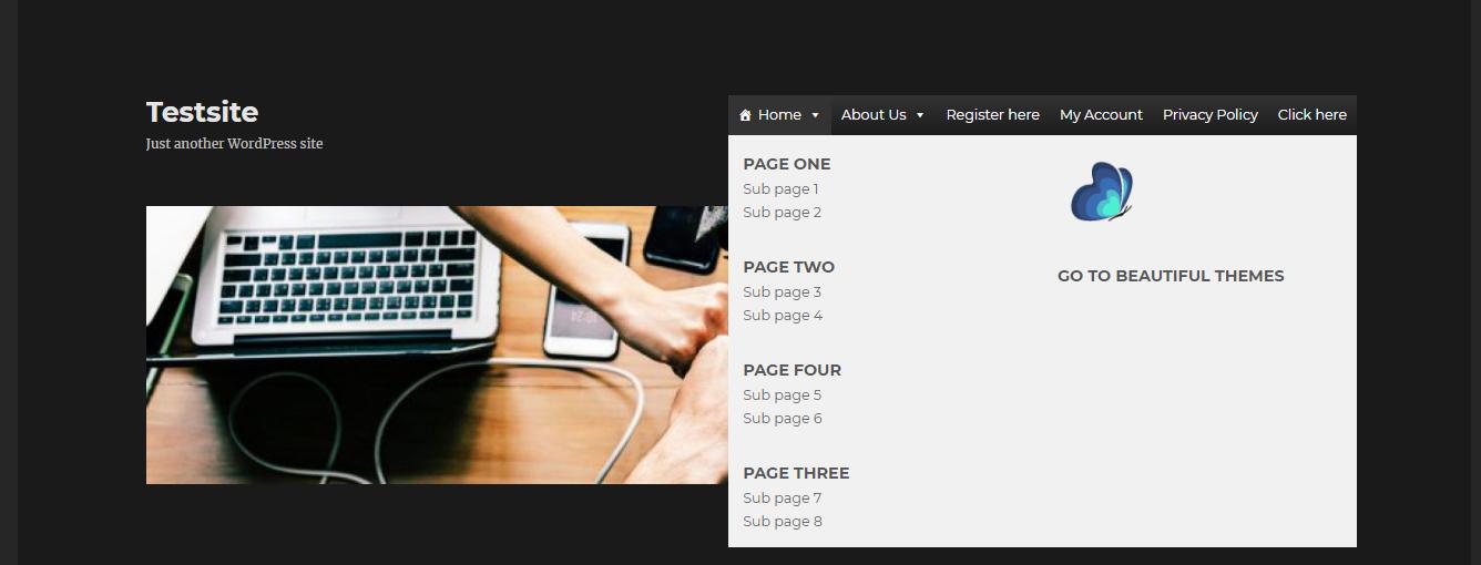 Add WordPress Mega Menu eight