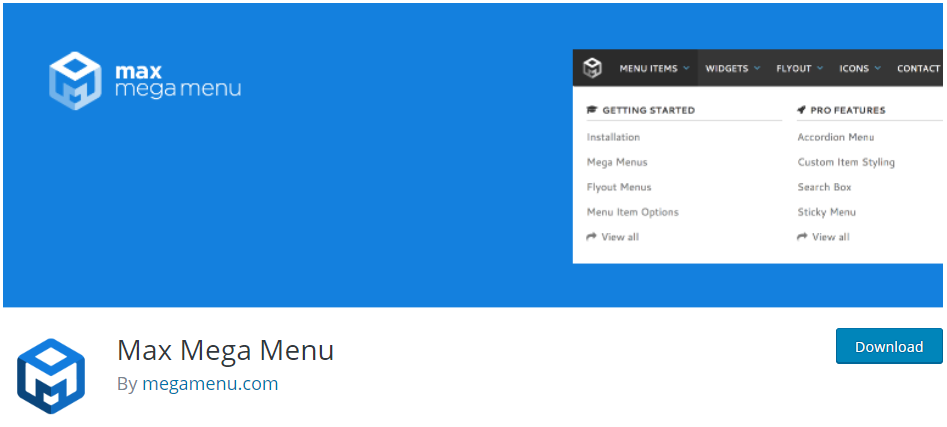 Add WordPress Mega Menu