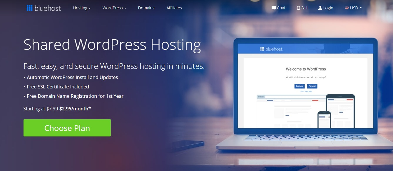WordPress Web Hosting Secure Affordable Reliable Bluehost