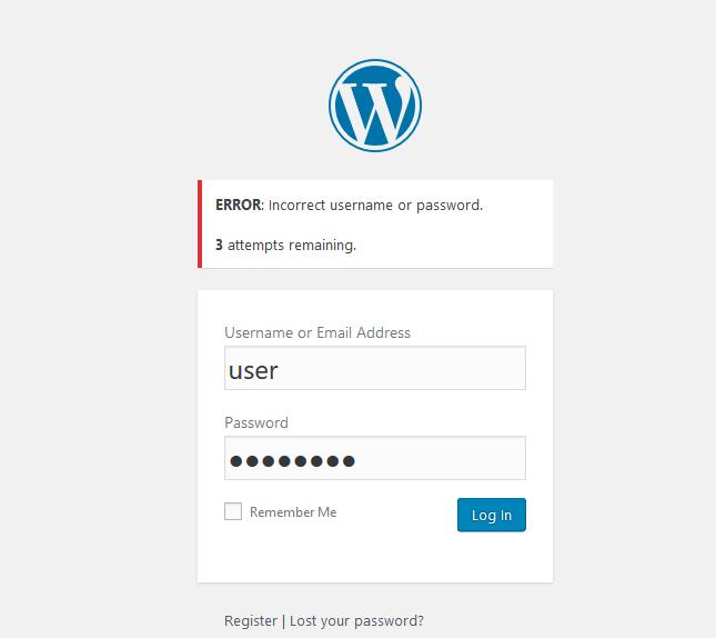 wordpress limit login