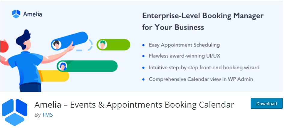 Amelia – Events Appointments Booking Calendar – WordPress plugin WordPress