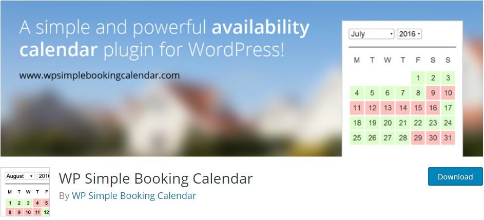 WP Simple Booking Calendar – WordPress plugin WordPress