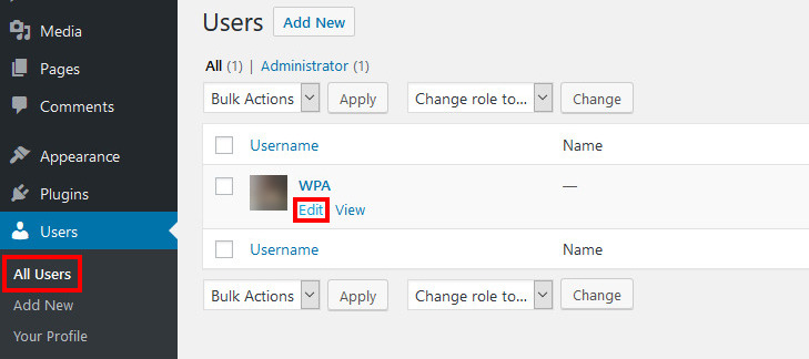 wordpress change admin email